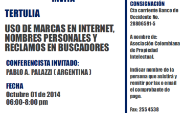 ACPI Invita Tertulia: uso de marcas en Internet, nombres personales  y reclamos en buscadores.