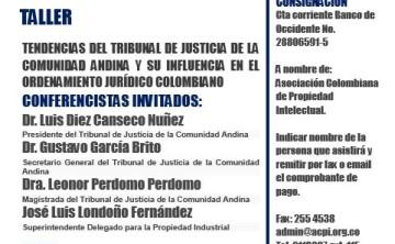 ACPI les invita al Seminario sobre las Tendencias del Tribunal Andino de Justicia