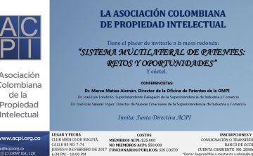 "Los invitamos al evento ""Sistema Multilateral de Patentes: Retos y Oportunidades"""