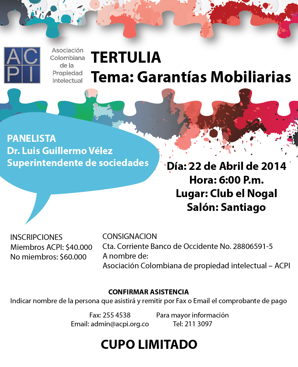 Acpi Invita: Tertulia sobre Garantías Mobiliarias