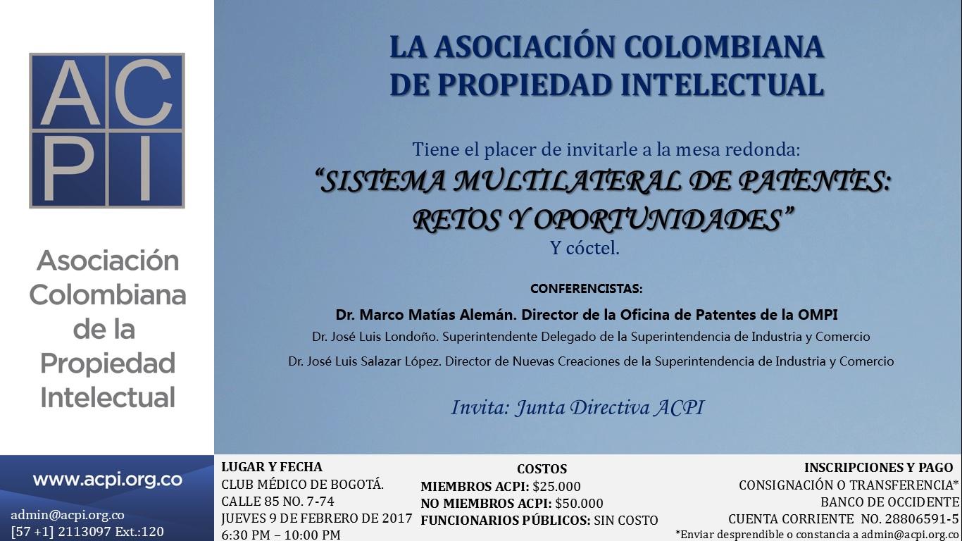 Los invitamos al evento «Sistema Multilateral de Patentes: Retos y Oportunidades»