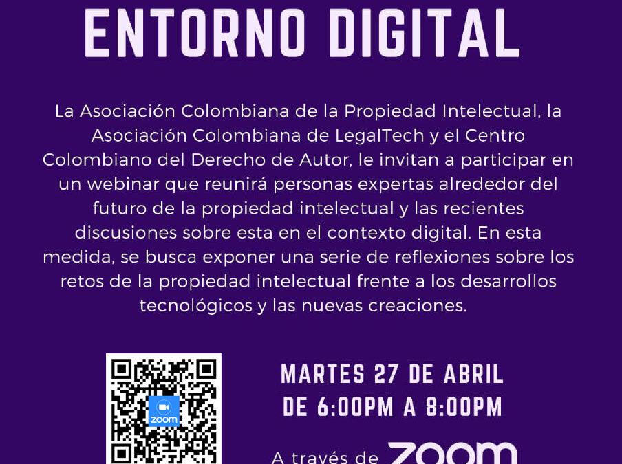 WEBINAR: LA PROPIEDAD INTELECTUAL EN EL ENTORNO DIGITAL